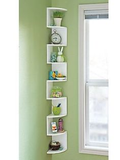 Turn An Empty Corner Into An Eye Catching Space For Favorite Items With Corner Shelves