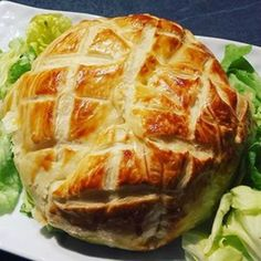 Camembert feuilleté et jambon