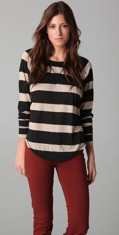 291 Stripe Long Sleeve Raglan Tee - StyleSays