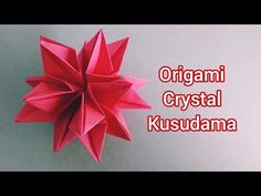 This crystal kusudama is a revised version. Rectangle paper size: 30 units Cut out of square paper: Design: Fendy Tong Music: Youth Musician:. Origami Flowers Tutorial, Flower Tutorial, Diy And Crafts, Paper Crafts, Paper Christmas Ornaments, Origami Videos, Origami And Kirigami, Mandala, Paper Butterflies