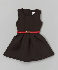 Another great find on #zulily! Black & Red Pleated Dress - Toddler & Girls #zulilyfinds