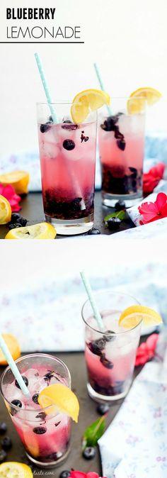 Best Recipes - Blueberry Lemonade Recipe by placeofmytaste.com