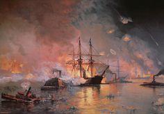 Capture Of New Orleans By Union Flag Officer David G Farragut  By Julian Oliver Davidson