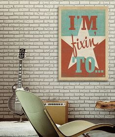 This 'I'm Fixin To' Gallery-Wrapped Canvas by iCanvas is perfect! #zulilyfinds