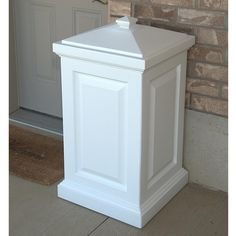 Mayne - Berkshire Storage Bin White - - Home Depot Canada. Use to store salt at the front of the house Outdoor Storage Bin, Storage Bins, Plastic Storage, Storage Stool, Food Storage, Storage Solutions, Plastic Decking, Do It Yourself Organization, Organization Ideas