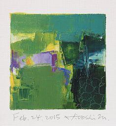 24 février 2015 Original abstrait peinture à par hiroshimatsumoto