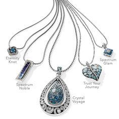 Always a favorite color, blue jewelry seems especially popular in summer when worn with whites. Beautiful Brighton Blues!