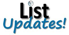 Here is a listing of all datacard updates and new lists for April 2016.  Stop by often - new lists/updates will be added.  You can also follow us on social me(...)