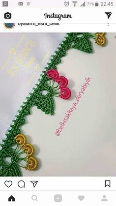 This post was discovered by Gu Crochet Motif, Crochet Flowers, Knit Crochet, Crochet Patterns, Crewel Embroidery, Embroidery Designs, Saree Kuchu Designs, Embroidery On Clothes, Crochet Shoes