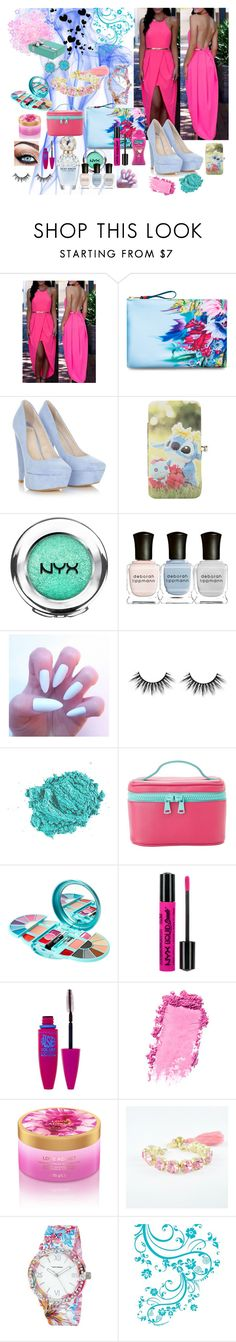 """##15"" by alena-hodzic ❤ liked on Polyvore featuring Cynthia Rowley, Disney, NYX, Deborah Lippmann, Marc Jacobs, Lily Lolo, MANGO, Maybelline, Aroma and Caterina Mariani"