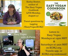 Don't miss Kathy Hester on Easy Vegan Monday, August 31 at 12pm MST!