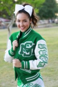 ba9bb75817a54 Senior Portrait   Photo   Picture Idea - Cheer   Cheerleader   Cheerleading  - Varsity Jacket