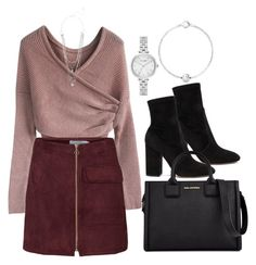 """""""Untitled #1488"""" by she-is-wearing-this ❤ liked on Polyvore featuring Valentino, Karl Lagerfeld, Kate Spade and Pandora"""