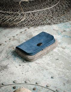 Wool Felt Cardholder & Wallet   Ocean Blue