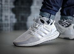 Adidas Ultra Boost Primeknit White Grey