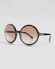 Carrie Oversized Sunglasses by Tom Ford at Bergdorf Goodman.