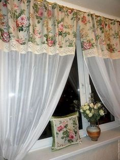 Rosary and white veil 65 Adorable Window Curtains Design Ideas And Decor - Ideaboz To use curtains or not to use curtains? Choosing curtains is often an overlooked design decision, but it can really make or break a space. No Sew Curtains, Crochet Curtains, Cool Curtains, Window Curtains, Window Curtain Designs, Curtain Patterns, Vintage Kitchen Curtains, Shabby Chic Kitchen, Rustic Kitchen
