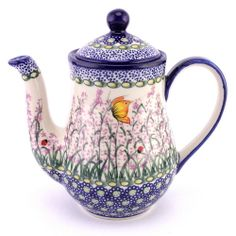 Polish pottery - awesome romantic teapot from our new online store, do you like it? We are going to launch the final version of the website soon :)
