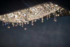 Deep Sky crystal chandelier covered by cowhide #Manooi #Chandelier #CrystalChandelier #Design #Lighting #DeepSky #luxury #furniture