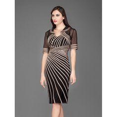 Κλασικό ελαστικό φόρεμα με ζακετάκι