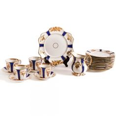 20 Piece German Porcelain Tea Service
