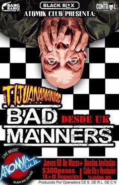 BAD MANNERS se presentará en el Black Box Tijuana el próximo 8 de marzo!  Quiénes #vanir a bailar ska?