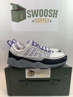 promo code 03d77 c5caf Nike Air Zoom Spiridon 926955 009 Grey Persian Violet Men SZ 7 Womens 8.5   Nike