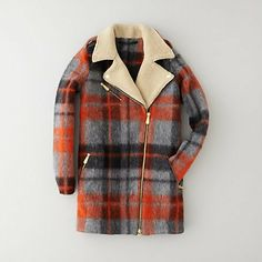 Tartan / contrast collar | Retro | Marte Plaid Coat by Won Hundred