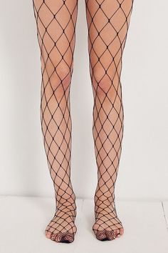 Shop Out From Under Wide Net Fishnet Tight at Urban Outfitters today. We carry all the latest styles, colors and brands for you to choose from right here. New Years Eve Outfit Ideas Winter, New Years Eve Outfits, Fishnet Socks, Fishnet Stockings, Glamour, High Waisted Mom Jeans, Pantyhose Legs, Destroyed Jeans, Black Tights