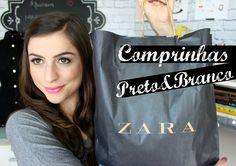 Compras na Zara - Moda Preto e Branco / P&B  (Fashion Haul, Comprinhas)