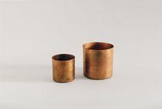 Small Raw Copper Planter