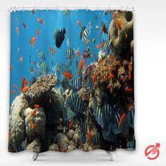 Cheap Underwater Reef Shower Curtain