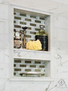 Marble Shower Niche- Bathroom by Amy Vermillion