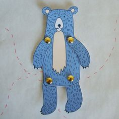 Make your own Bear paper doll by FandGForest on Etsy