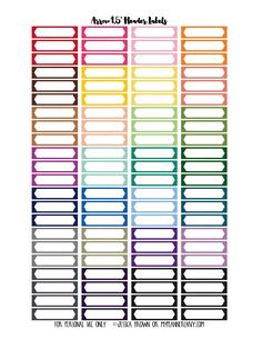 "My Planner Envy: 1.5"" Arrow Header Labels - Free Planner Printable"