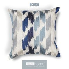 Give any space a splash of artistic inspiration with the @DonnyOsmondHome Blue Watercolors pillow. http://www.kasrugs.com/product/details/PILL20618SQ | #ColorWithKAS #DonnyOsmond #DonnyOsmondHome #Pillows #HomeDecor #Pillow