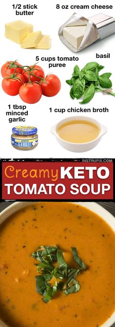 Home Made Doggy Foodstuff FAQ's And Ideas 7 Easy Low Carb Soup Recipes Keto Friendly This Low Carb Creamy Tomato Soup Is So Easy And Delicious Instrupix Low Carb Soup Recipes, Ketogenic Recipes, Diet Recipes, Healthy Recipes, Lunch Recipes, Salad Recipes, Recipes Dinner, Protein Recipes, Sweets Recipes