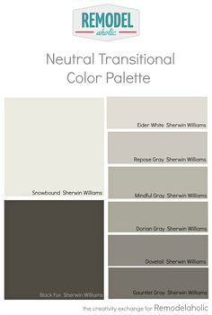 Create a cohesive and beautiful house paint color palette using these two surefire tricks for coordinating colors and matching undertones. Such a simple shortcut for a beautiful paint colors! -- whole house paint scheme (even ceilings) Paint Color Palettes, Neutral Paint Colors, Paint Color Schemes, Best Paint Colors, Paint Colors For Home, Gray Color, Gray Paint, Trending Paint Colors, Colour