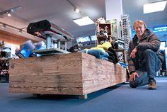 Intersport & Skischule Sturm, Lofer  Neue Shopgestaltung mit Sun-Wood Altholzplatten