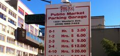 2) After breakfast we'd park our car in the Public Market Parking Garage and head on up to Pike Place Market.