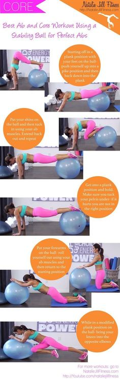 Learn how to use a stability ball to get the best ab and core workout ever.