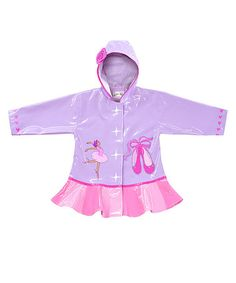 Take a look at this Purple & Pink Ballerina Raincoat - Infant, Toddler & Kids by Kidorable on #zulily today!