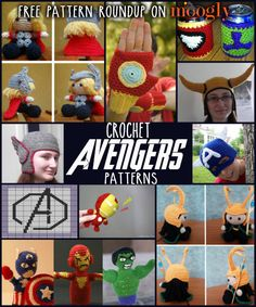 Free #Crochet Avengers Patterns! Some are ridiculous but they're cute!
