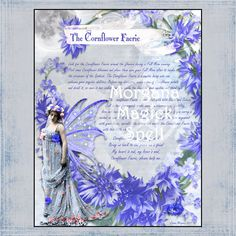 The CORNFLOWER FAERIE, Digital Download, Faerie, Instant Download, Book of Shadows Page, Grimoire, Scrapbook, Spells by MorganaMagickSpell on Etsy