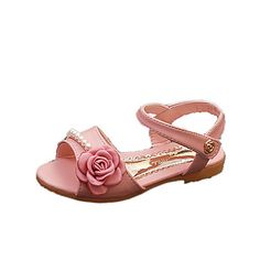 Sandals+Spring+Summer+Fall+Comfort+PU+Casual+Flat+Heel+Imitation+Pearl+Pink+White+–+AUD+$+29.48