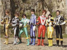 Go Onger cast Power Rangers Rpm, Power Rengers, Hero World, Hero Costumes, Kamen Rider, Samurai, Engineering, Meme, Japan