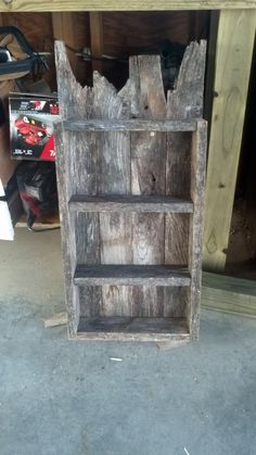 shelf from old fence boards