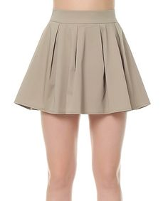 Another great find on #zulily! Mink Pleated Skirt #zulilyfinds