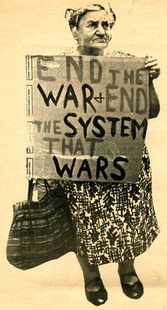 End The War + End The System That Wars  Photo by Stan Goldstein for Rat Subterranean News  1968