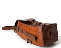 OLD french real leather BAG   Messenger bag  by RueDesLouves, $120.00
